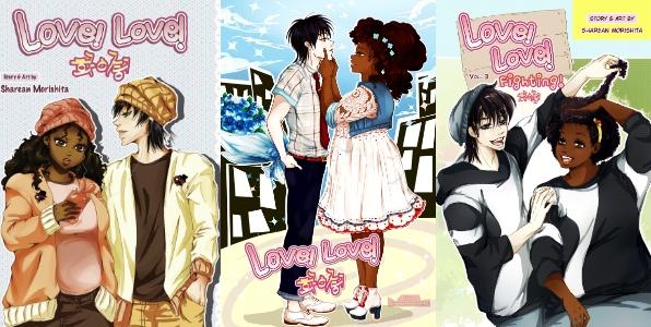 Online manga with dark skin anime girl and dark haired anime boy