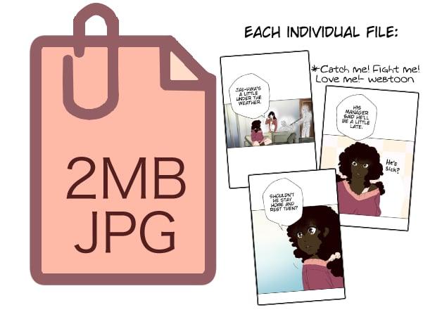 webtoon file size
